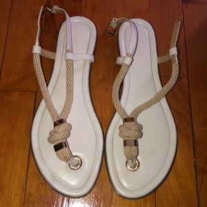 White Michael Kors sandals